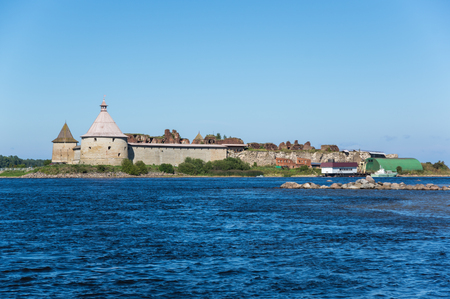 leningrad: Oreshek fortress is situated on the small Orekhovy Island in the River Nevas outflow from Lake Ladoga, Leningrad region, Russia Editorial
