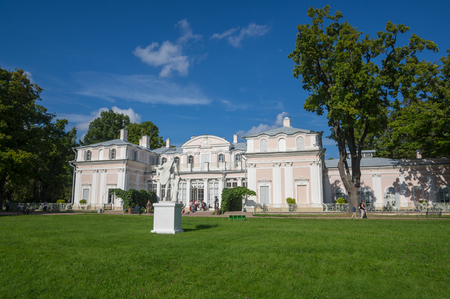palacio ruso: SAINT- PETERSBURG, RUSSIA - September 06, 2015: Oranienbaum is a Russian royal residence, located on the Gulf of Finland west of Saint Petersburg, Russia. The Palace ensemble are UNESCO World Heritage Sites Editorial