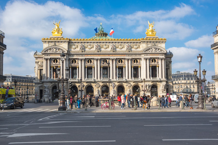 garnier: PARIS, FRANCE - OCTOBER 11, 2015: The Palais Garnier is the most famous opera house in the world, a symbol of Paris, France