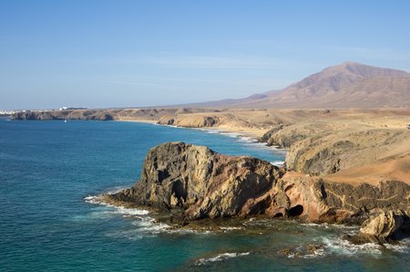 Playa de Papagayo (Parrots beach) on Lanzarote, Canary islands, Spain