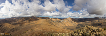 Volcanic landscape of the island of Lanzarote, Canary Islands, Spain