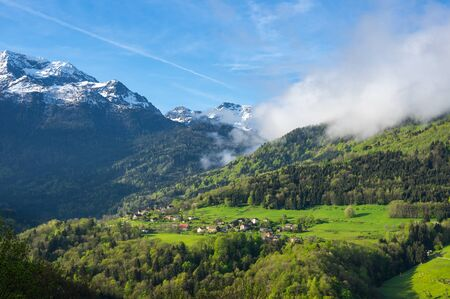 Mountains of National park Ecrins in France