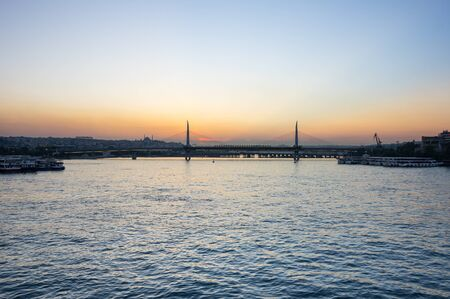 The Golden Horn is a major urban waterway and the primary inlet of the Bosphorus in Istanbul, Turkey