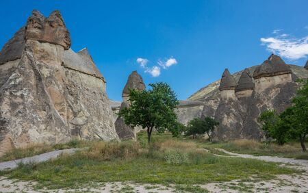 natural formation: Stone formations at Pashabag Valley in Cappadocia, Turkey