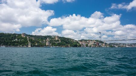 separates: Panoramic view of Istanbul and Bosphorus, which separates Asian Turkey from European Turkey in Istanbul