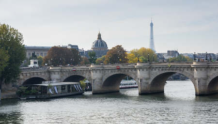 PARIS, FRANCE - OCTOBER 12, 2015: The Pont Neuf (New Bridge) is the oldest standing bridge across the river Seine in Paris, France