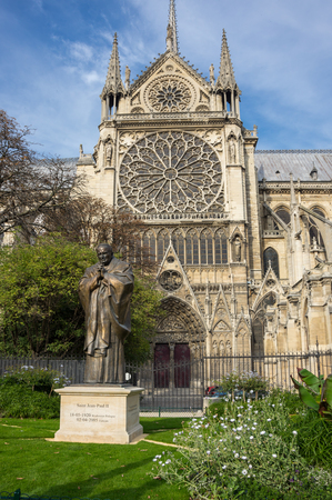 Notre-Dame de Paris (French for Our Lady of Paris) is a medieval Catholic cathedral on the Cite Island in Paris, France
