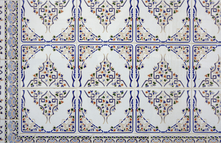 azulejo: Portuguese traditional tiles Azulejo in Lisbon. Portugal tile is one of the traditional cultural elements that the Portuguese are very proud of