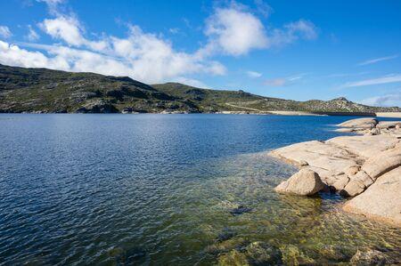 largest: Lagoa Comprida is the largest lake of Serra da Estrela Natural park, Portugal Stock Photo