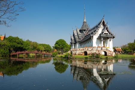 Sanphet Prasat Palace in Samut Prakan province, Thailand Stock Photo