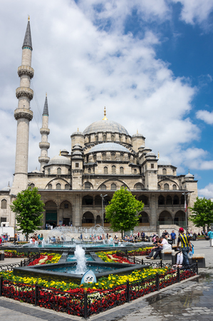 ISTANBUL, TURKEY - JUNE 25, 2015: The Yeni Cami ( New Mosque) is an Ottoman imperial mosque located in the Eminonu quarter of Istanbul, Turkey Editorial