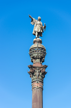 The Columbus Monument is a 60 m tall monument to Christopher Columbus at the lower end of La Rambla, Barcelona, Catalonia, Spain