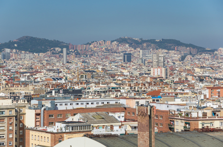 Panoramic view of Barcelona, the capital city of the autonomous community of Catalonia in the Kingdom of Spain
