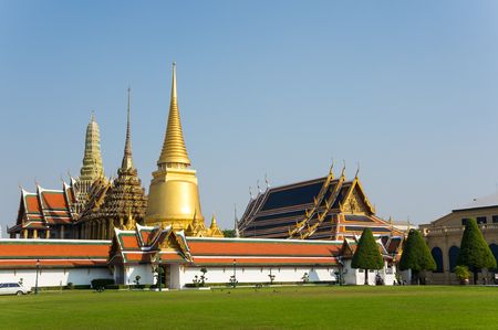 kaew: Wat Phra Kaew is one of the most popular tourists destination in Bangkok, Thailand