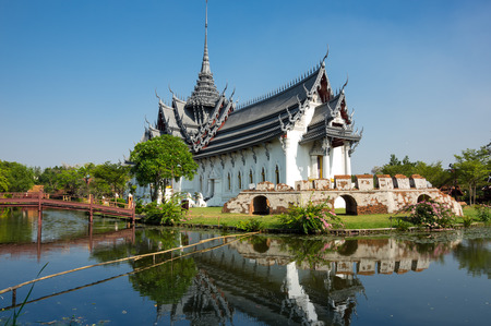 Sanphet Prasat Palace in Samut Prakan province, Thailand Stock Photo