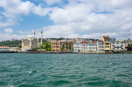 ISTANBUL, TURKEY - JUNE 25, 2015: Panoramic view of Bosphorus, which separates Asian Turkey from European Turkey in Istanbul, Turkey Editorial