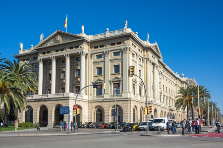 BARCELONA, SPAIN - OCTOBER 23, 2015: Urban view of Barcelona, the capital city of the autonomous community of Catalonia in the Kingdom of Spain Editorial