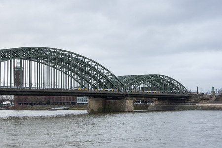 View of embankment in Cologne, the largest city in the German federal State of North Rhine-Westphalia and the fourth-largest city in Germany