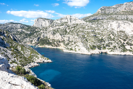 The Calanque de Morgiou, one of the biggest calanques located between Marseille and Cassis, France Stock Photo