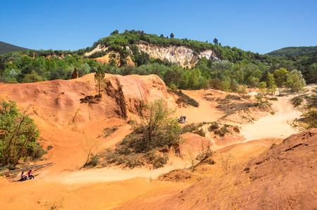 Red rocks of Colorado provencal in Rustrel, France