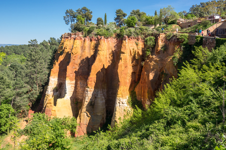 Red rocks of Colorado provencal in Roussillon, France