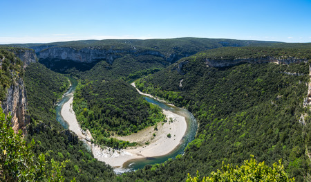 View of Ardeche Gorges, locally known as the European Grand Canyon, France 版權商用圖片