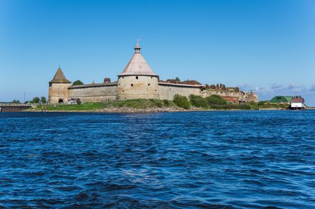 Oreshek fortress is situated on the small Orekhovy Island in the River Neva's outflow from Lake Ladoga, Leningrad region, Russia