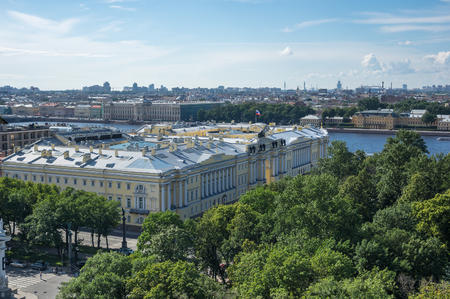 Top view of Saint-Petersburg from the roof of Saint Isaac's Cathedral, Russia
