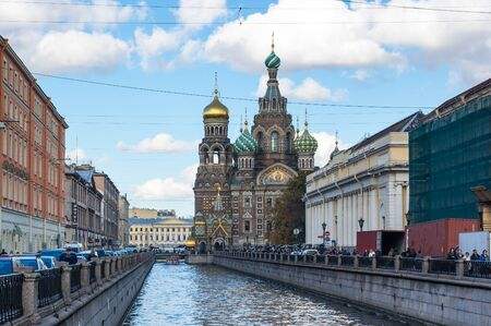 SAINT- PETERSBURG, RUSSIA - OCTOBER 03, 2016: The Church of the Savior on Spilled Blood is one of the main sights of Saint Petersburg, Russia