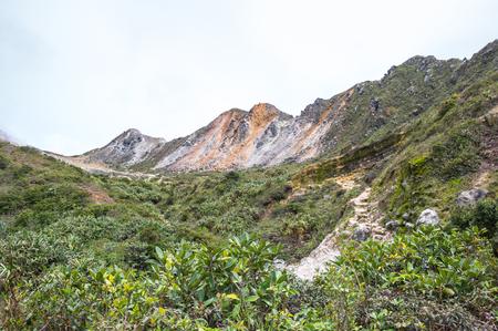 인도네시아 수마트라 섬에 Sibayak 산의 경사면 스톡 콘텐츠 - 102952524