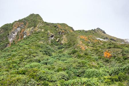 인도네시아 수마트라 섬에 Sibayak 산의 경사면 스톡 콘텐츠 - 102964322
