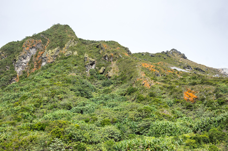 The slope of mount Sibayak on island Sumatra, Indonesia