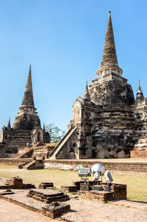 View of  ruins of the old city of Ayutthaya, Thailand