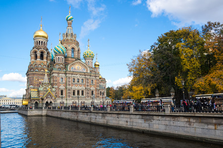 The Church of the Savior on Spilled Blood is one of the main sights of Saint Petersburg, Russia