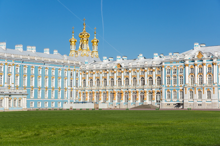 The Catherine Palace is a Rococo palace located in the town of Tsarskoye Selo (Pushkin),  Saint- Petersburg, Russia