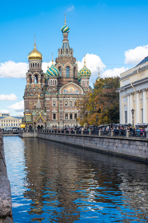 The Church of the Savior on Spilled Blood is one of the main sights of Saint Petersburg, Russia Фото со стока
