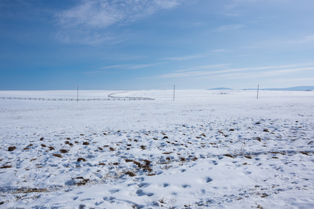 Panoramic view of Tazheran steppe in Irkutsk region, Siberia, Russia