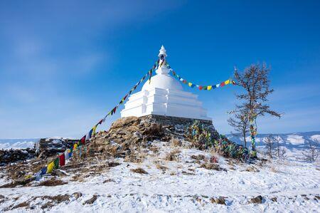 All Auspicious Stupa of Great Awakening, Ogoy island, lake Baikal, Siberia, Russia
