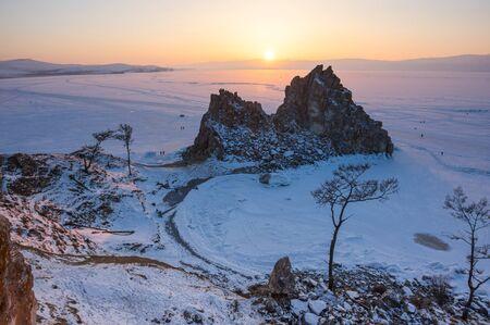 Cape Burkhan (Shaman Rock) on Olkhon Island at Baikal Lake, Siberia, Russia