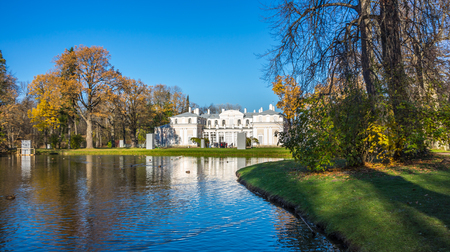 Chinese palace in Oranienbaum, a Russian royal residence, located on the Gulf of Finland west of Saint Petersburg, Russia. The Palace ensemble are UNESCO World Heritage Sites