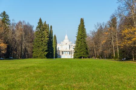 Toboggan-Slide Pavilion, a part of the 18th-century Russian mountains complex in Oranienbaum, Saint-Petersburg, Russia Publikacyjne