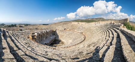 Ruins of amphitheater in Hierapolis