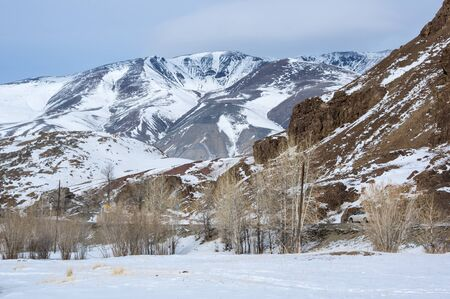 View of Altay mountains in the winter, Siberia, Russia Reklamní fotografie