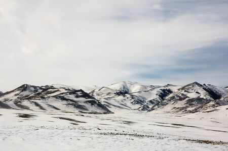 View of Altay mountains in the winter, Siberia, Russia Stock fotó
