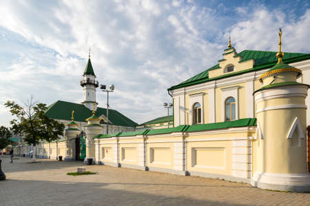 View of the mosque in the historical center of Kazan, capital of Republic Tatarstan, Russia