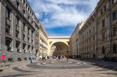 SAINT- PETERSBURG, RUSSIA - AUGUST 13, 2018: General Army Staff Building in Saint Petersburg, Russia