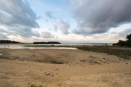 The coast of Indian ocean on island Bali, Indonesia