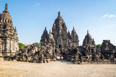 YOGYAKARTA, INDONESIA - 09 SEPTEMBER 2018: Prambanan or Rara Jonggrang is a 9th-century Hindu temple compound in Yogyakarta, Indonesia