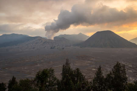 Mount Bromo is an active volcano in Bromo Tengger Semeru National Park, East Java, Indonesia