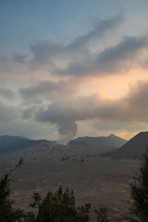 Mount Bromo is an active volcano in Bromo Tengger Semeru National Park, East Java, Indonesia